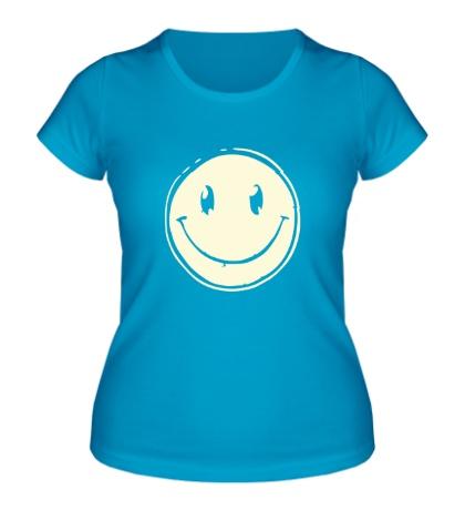 Женская футболка Позитивный смайл свет