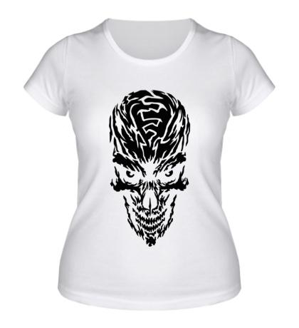 Женская футболка Мистический череп