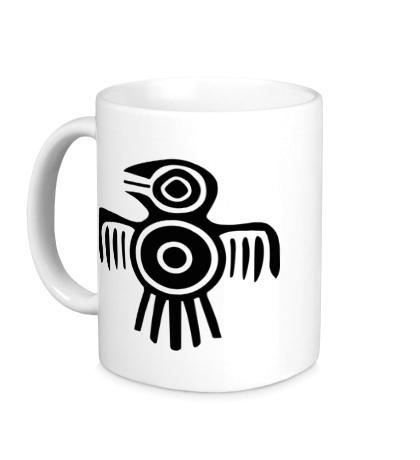 Керамическая кружка Египетская птица
