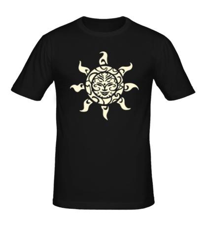 Мужская футболка Рисунок солнца свет