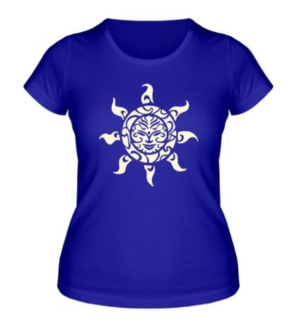 Женская футболка Рисунок солнца свет
