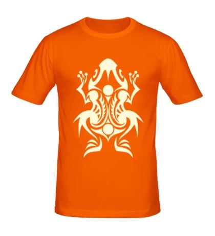 Мужская футболка Лягушка тату свет