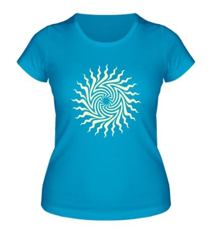 Женская футболка Психоделическое солнце свет