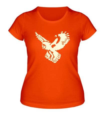 Женская футболка Полет совы свет