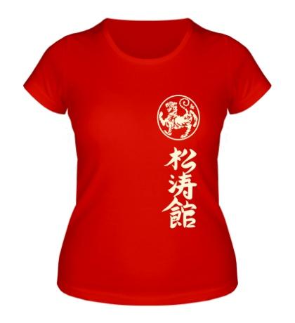 Женская футболка Шотокан карате, свет