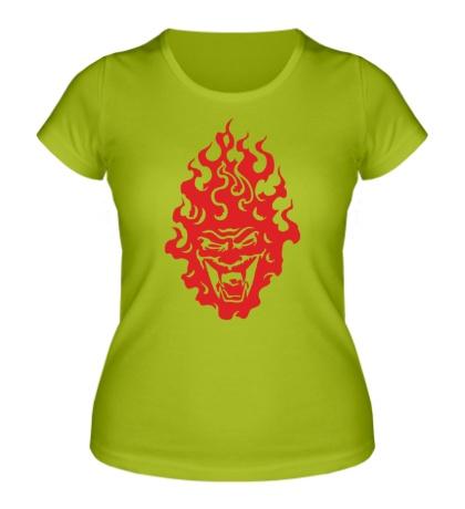 Женская футболка Огненный демон