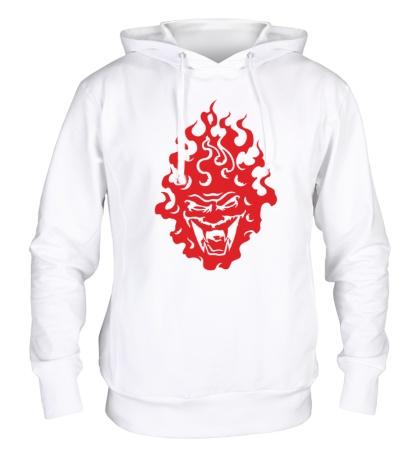 Толстовка с капюшоном Огненный демон