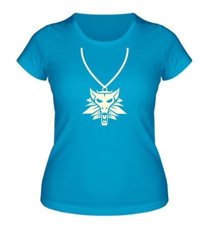 Женская футболка Амулет оборотней свет
