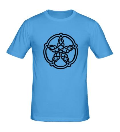 Мужская футболка Звезда в стиле кельтских узоров