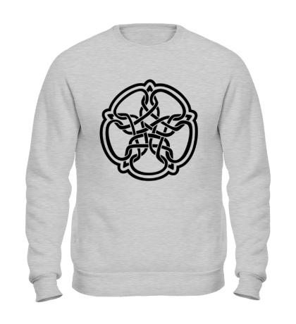 Свитшот Звезда в стиле кельтских узоров