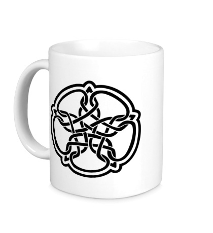 Керамическая кружка Звезда в стиле кельтских узоров