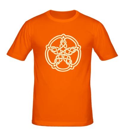 Мужская футболка Звезда из кельтских узоров свет