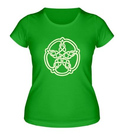 Женская футболка Звезда из кельтских узоров свет