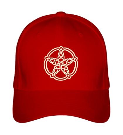 Бейсболка Звезда из кельтских узоров свет