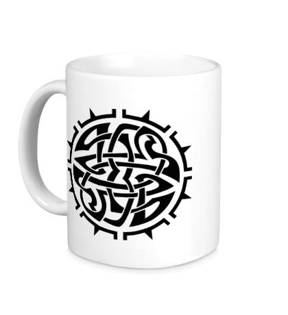 Керамическая кружка Кельтский тату-узор