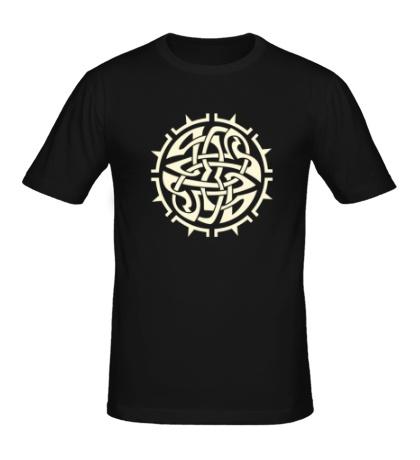 Мужская футболка Кельтский тату-узор, свет