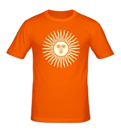 Мужская футболка Солнечный диск свет
