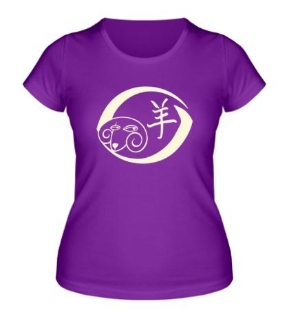Женская футболка Китайский год овцы, свет