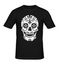 Мужская футболка Расписной череп
