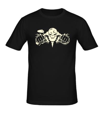Мужская футболка Мертвый мотоциклист, свет