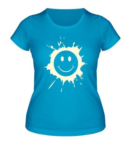 Женская футболка Смайл размазня свет