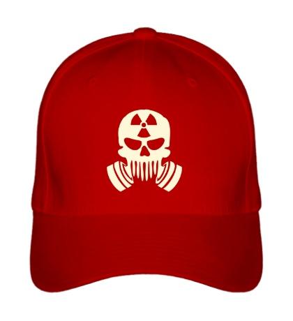 Бейсболка Радиоактивный череп, свет