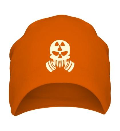 Шапка Радиоактивный череп, свет