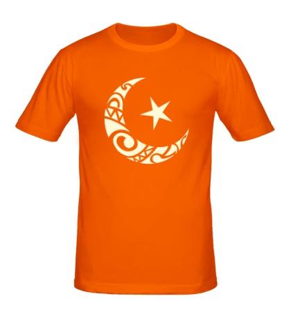Мужская футболка Исламский символ свет
