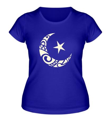 Женская футболка Исламский символ свет