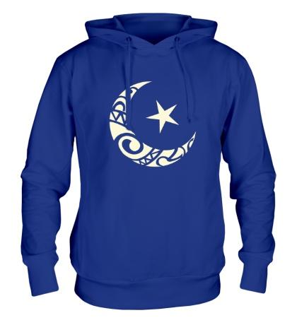 Толстовка с капюшоном Исламский символ свет