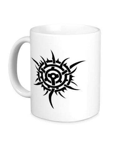 Керамическая кружка Шипованная тату-звезда