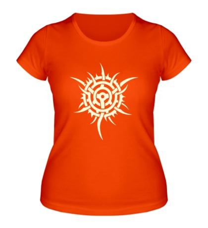 Женская футболка Шипованная тату-звезда, свет