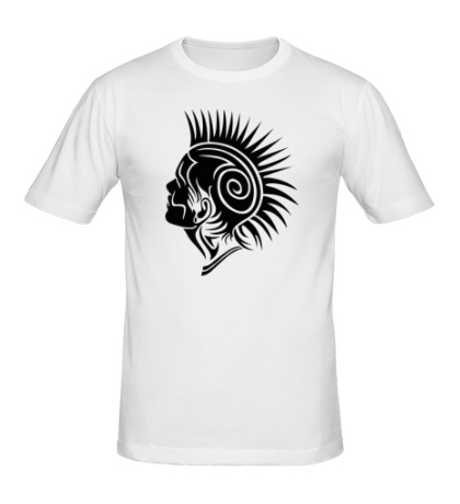 Мужская футболка Панк с ирокезом