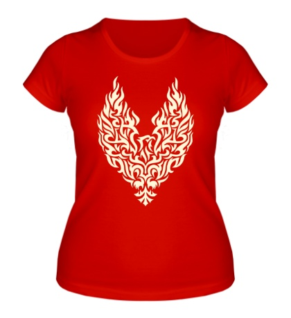 Женская футболка Огненный феникс свет