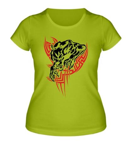 Женская футболка Свирепый оборотень