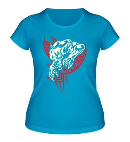 Женская футболка Свирепый оборотень свет