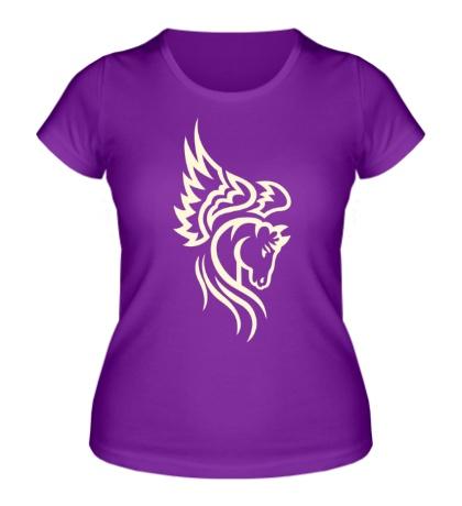 Женская футболка Пегас свет
