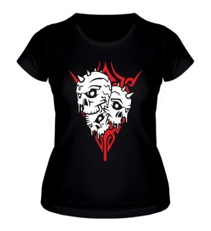 Женская футболка Черепа панков