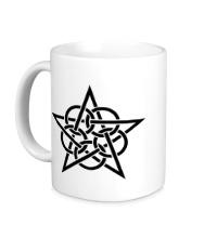 Керамическая кружка Окольцованная звезда