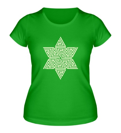Женская футболка Меркаба: цветок жизни, свет