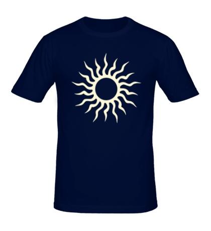 Мужская футболка Солнце узор свет