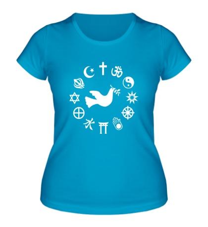Женская футболка Дружба религий