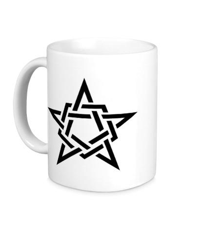 Керамическая кружка Кельтская звезда