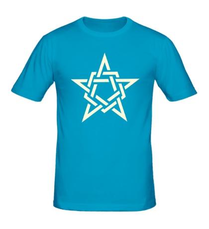 Мужская футболка Кельтская звезда, свет