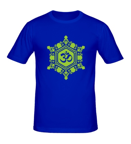 Мужская футболка Ом символ в узорах