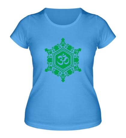 Женская футболка Ом символ в узорах