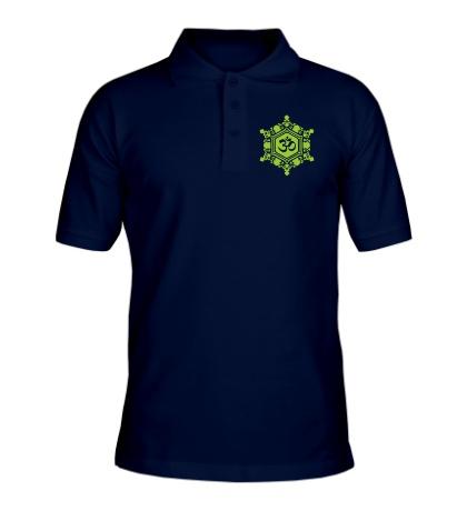 Рубашка поло Ом символ в узорах