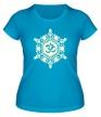 Женская футболка «Ом символ в узорах свет» - Фото 1