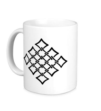 Керамическая кружка Орнамент сетка