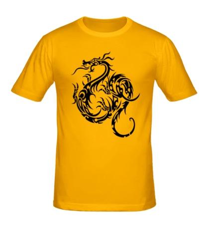 Мужская футболка Тату дракон